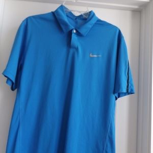 Nike Tiger woods Collection Blue Medium Golf Polo